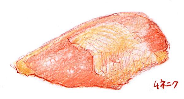 とり胸肉のイラスト