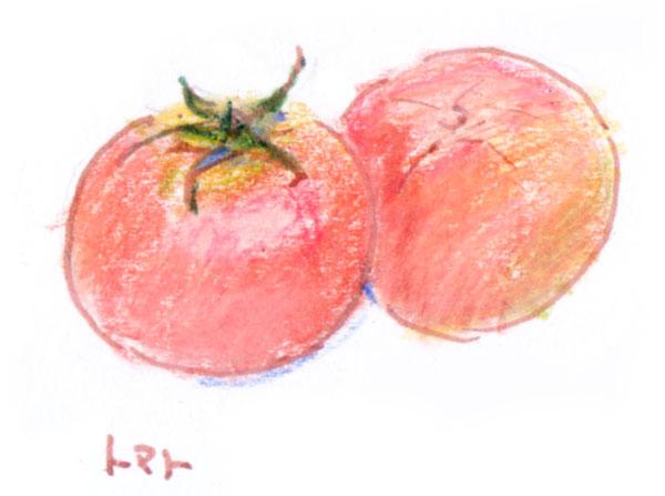 トマトの絵